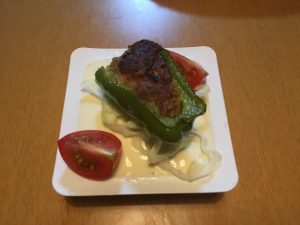 肉詰めピーマン(今日の豆腐)