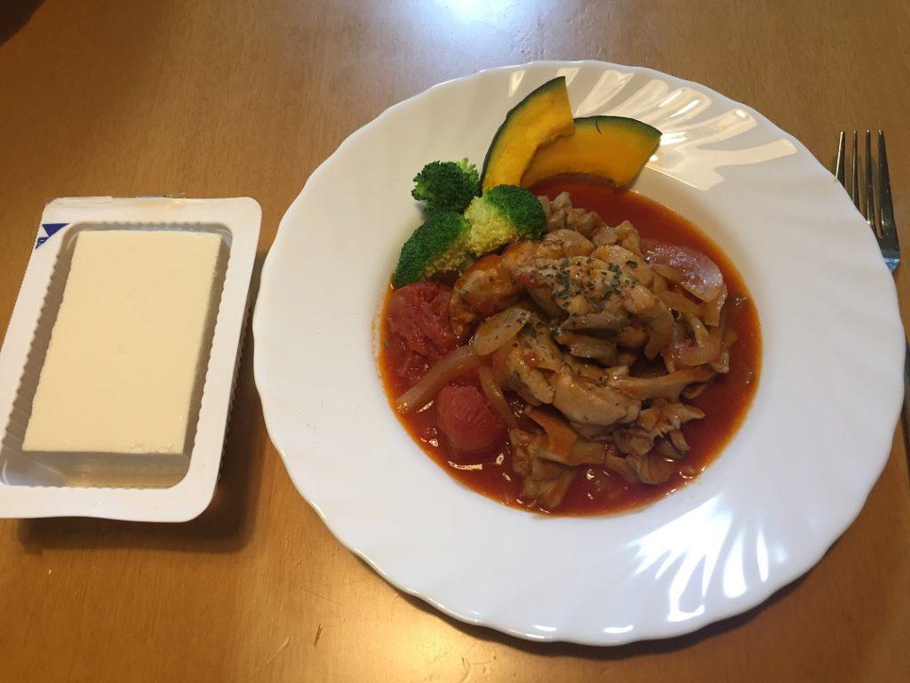 鶏肉のトマト煮(今日の豆腐)